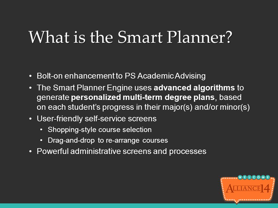 What is the Smart Planner