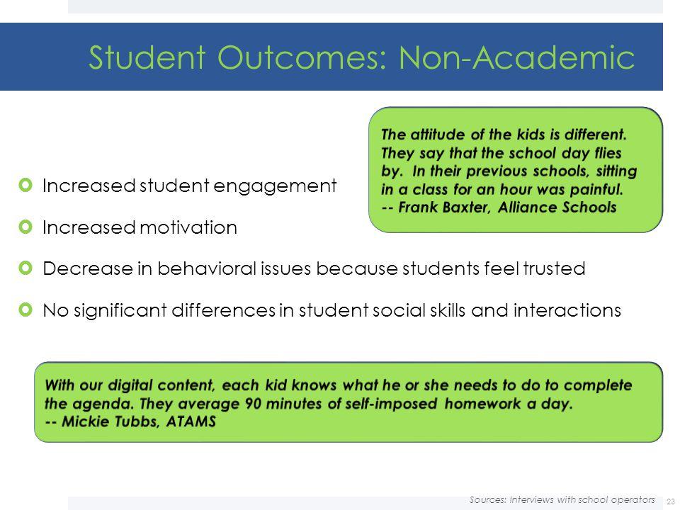 Student Outcomes: Non-Academic