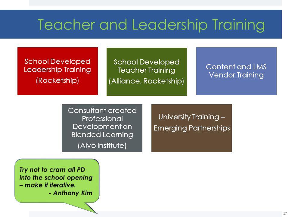 Teacher and Leadership Training
