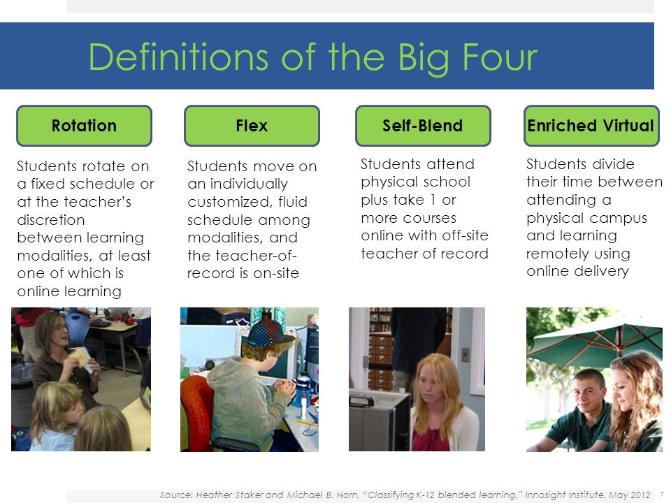 Definitions of the Big Four