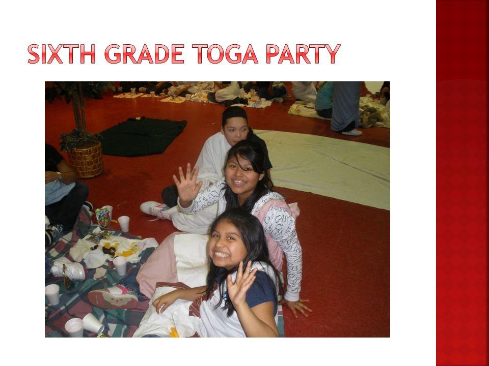 Sixth Grade Toga Party