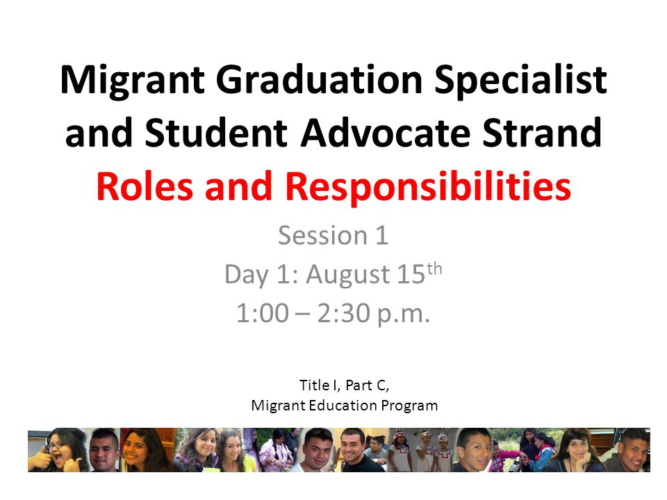Session 1 Day 1: August 15th 1:00 – 2:30 p.m.