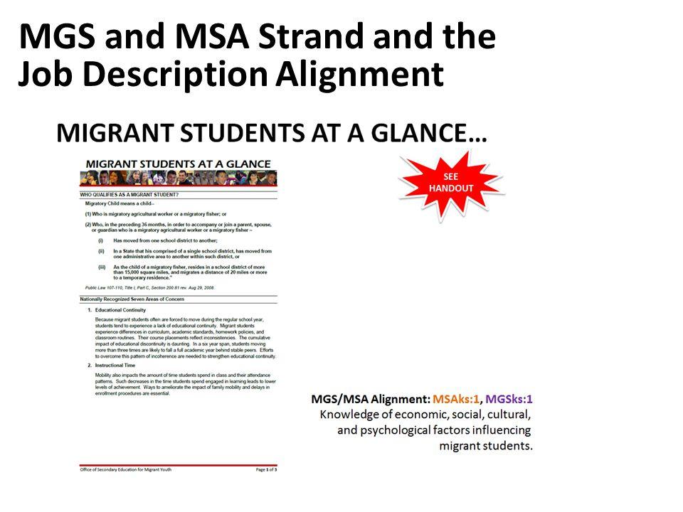 MGS and MSA Strand and the