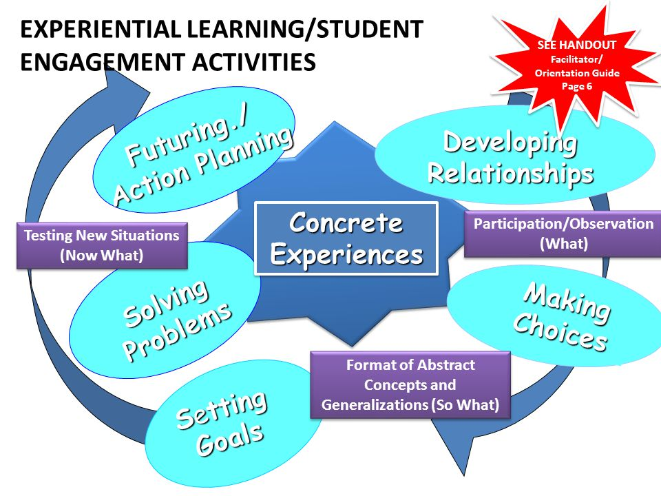 EXPERIENTIAL LEARNING/STUDENT ENGAGEMENT ACTIVITIES