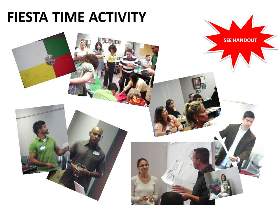 FIESTA TIME ACTIVITY SEE HANDOUT