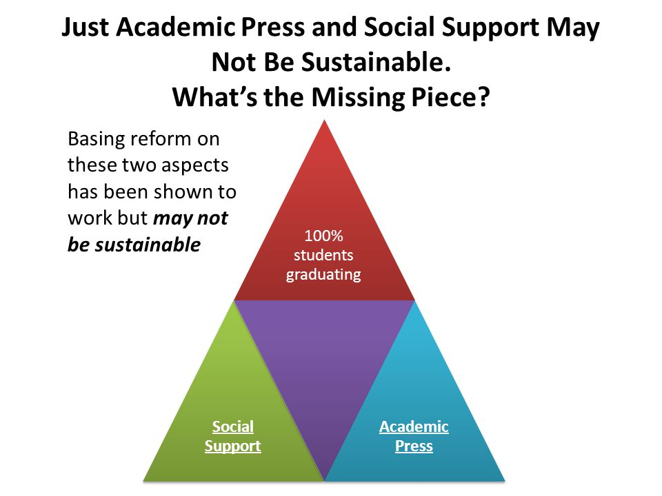Just Academic Press and Social Support May Not Be Sustainable