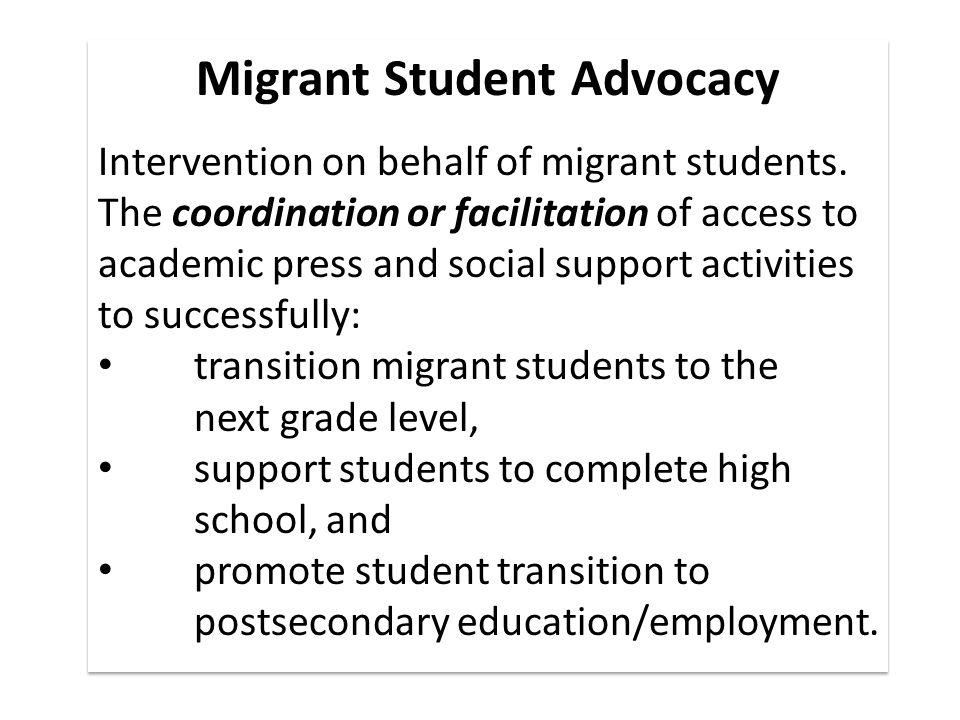 Migrant Student Advocacy