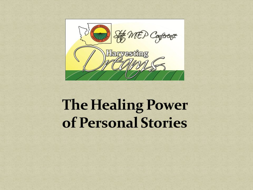 The Healing Power of Personal Stories