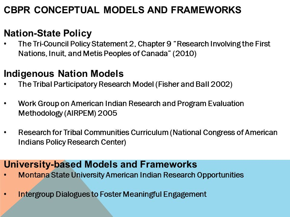 CBPR CONCEPTUAL MODELS AND FRAMEWORKS Nation-State Policy