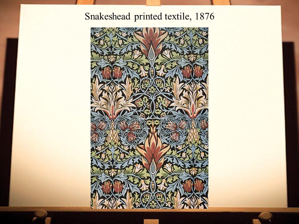 Snakeshead printed textile, 1876