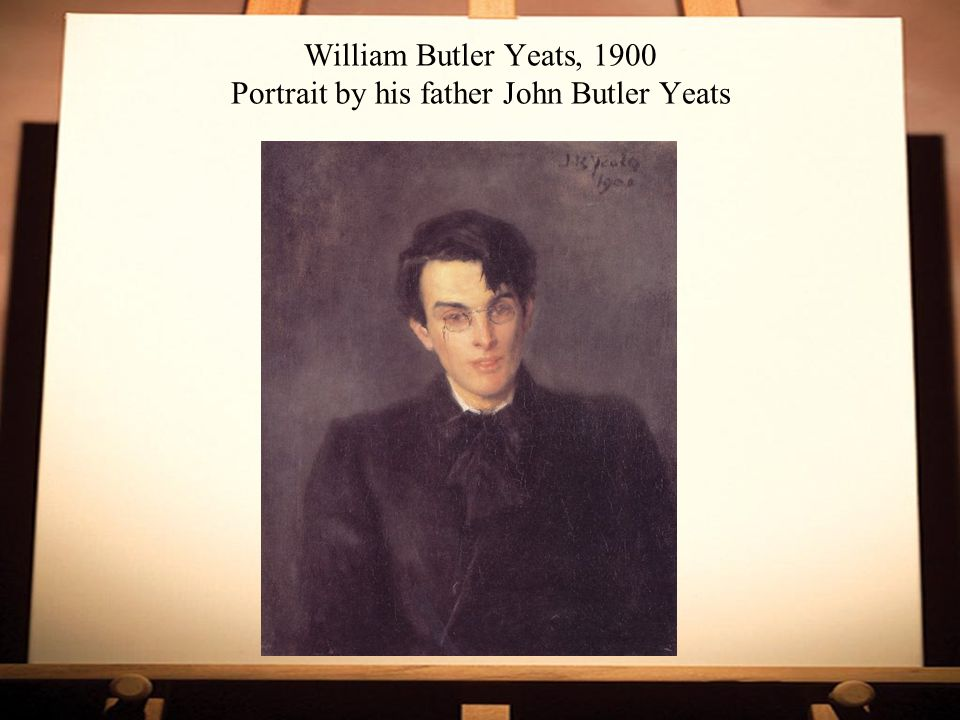 William Butler Yeats, 1900 Portrait by his father John Butler Yeats