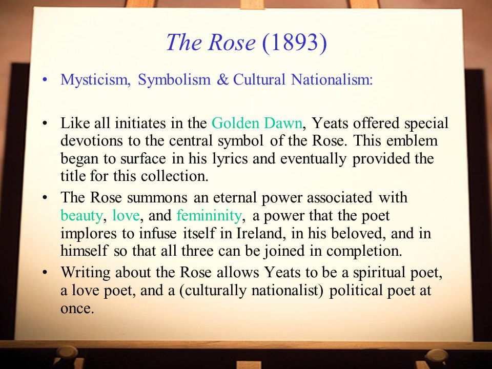 The Rose (1893) Mysticism, Symbolism & Cultural Nationalism: