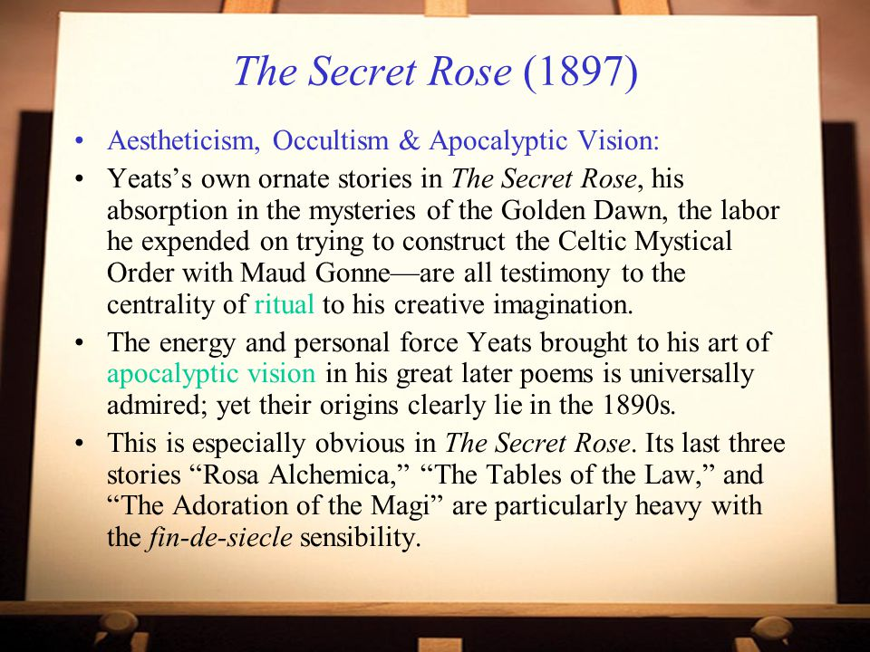 The Secret Rose (1897) Aestheticism, Occultism & Apocalyptic Vision: