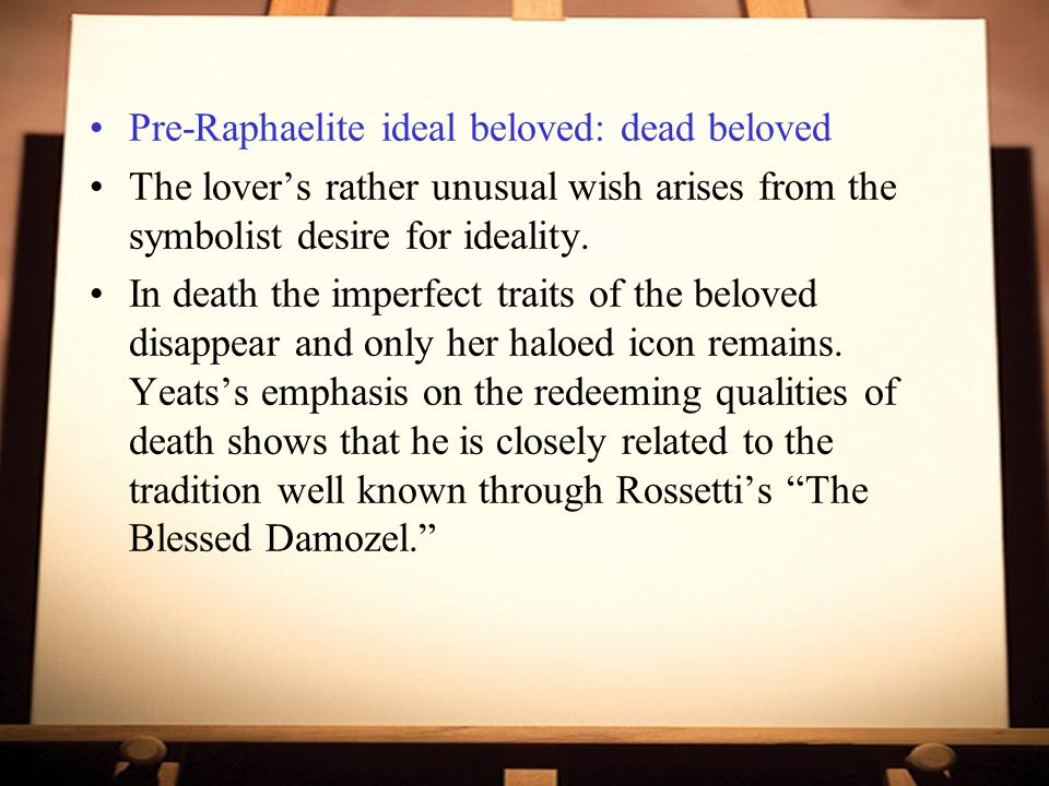 Pre-Raphaelite ideal beloved: dead beloved