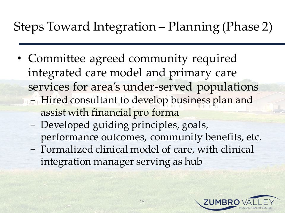 Steps Toward Integration – Planning (Phase 2)