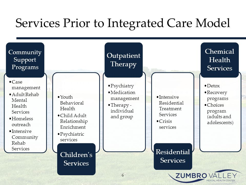 Services Prior to Integrated Care Model