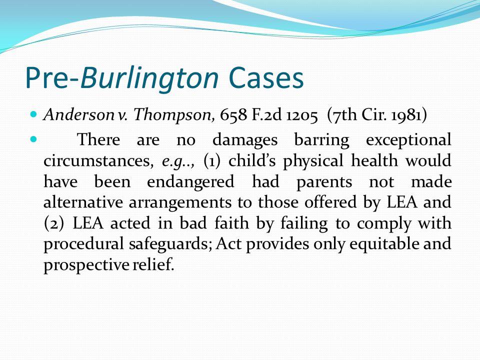 Pre-Burlington Cases Anderson v. Thompson, 658 F.2d 1205 (7th Cir. 1981)