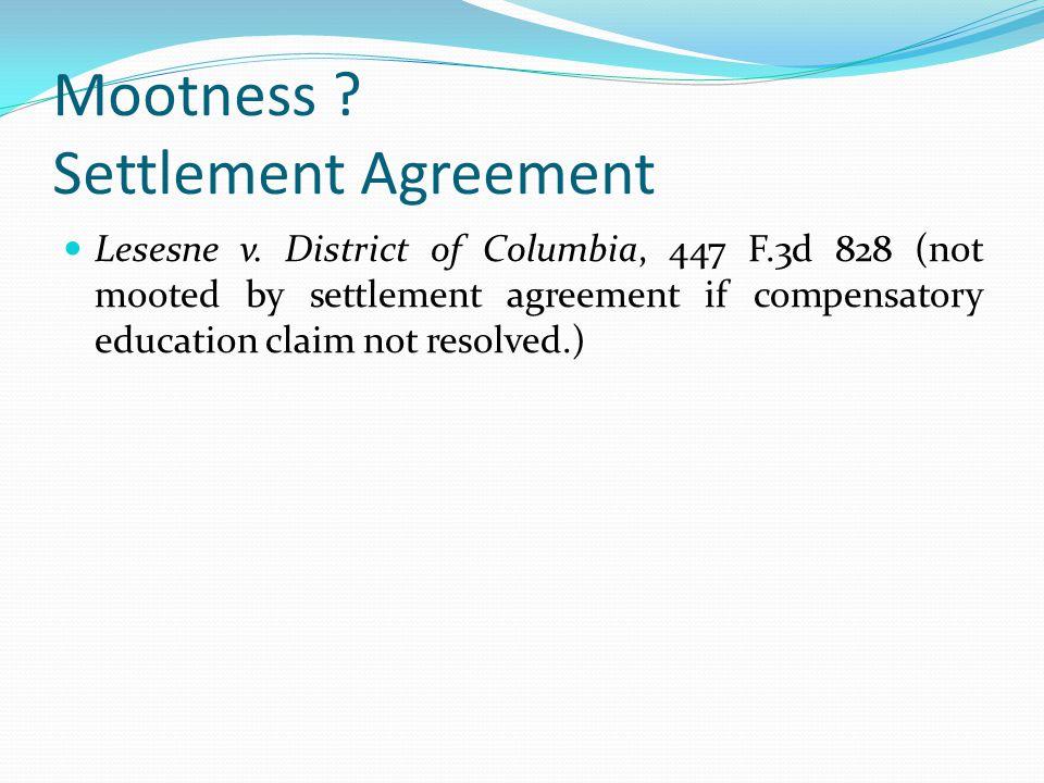 Mootness Settlement Agreement