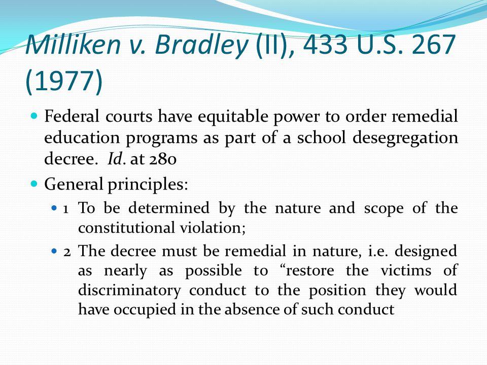 Milliken v. Bradley (II), 433 U.S. 267 (1977)