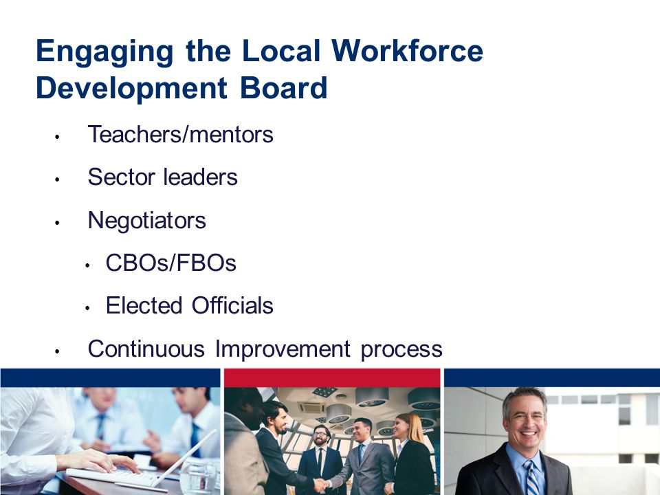 Engaging the Local Workforce Development Board