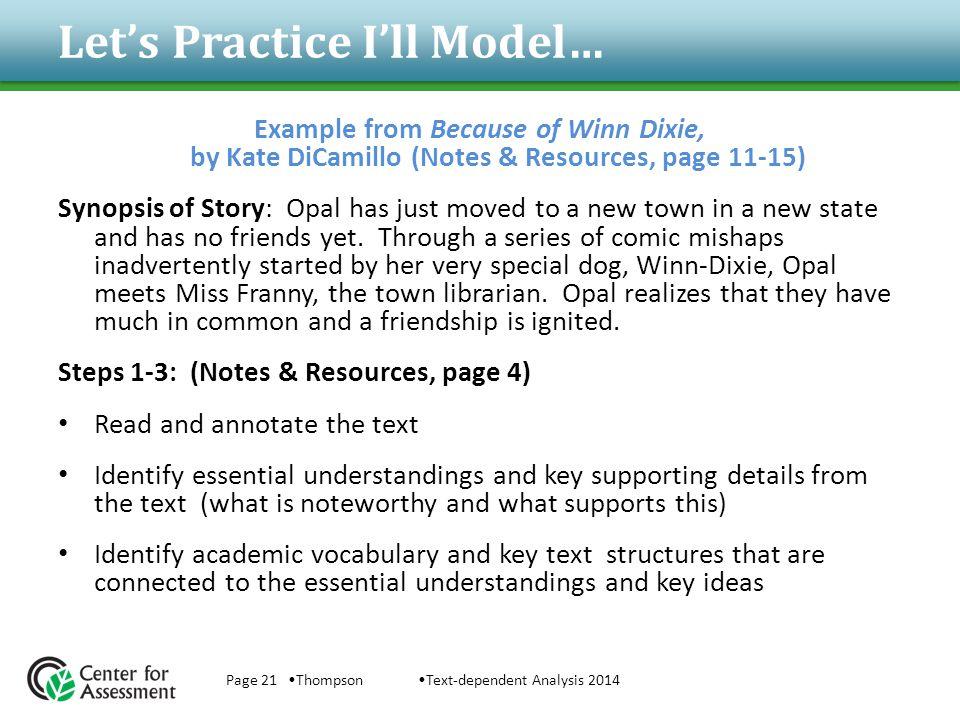 Let's Practice I'll Model…