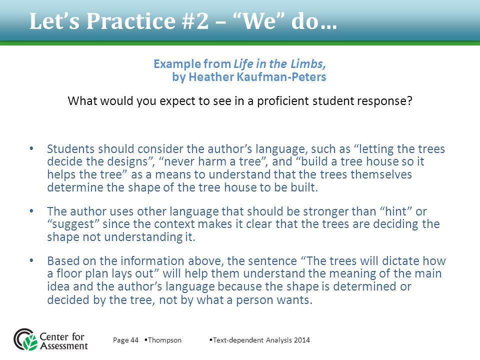Let's Practice #2 – We do…