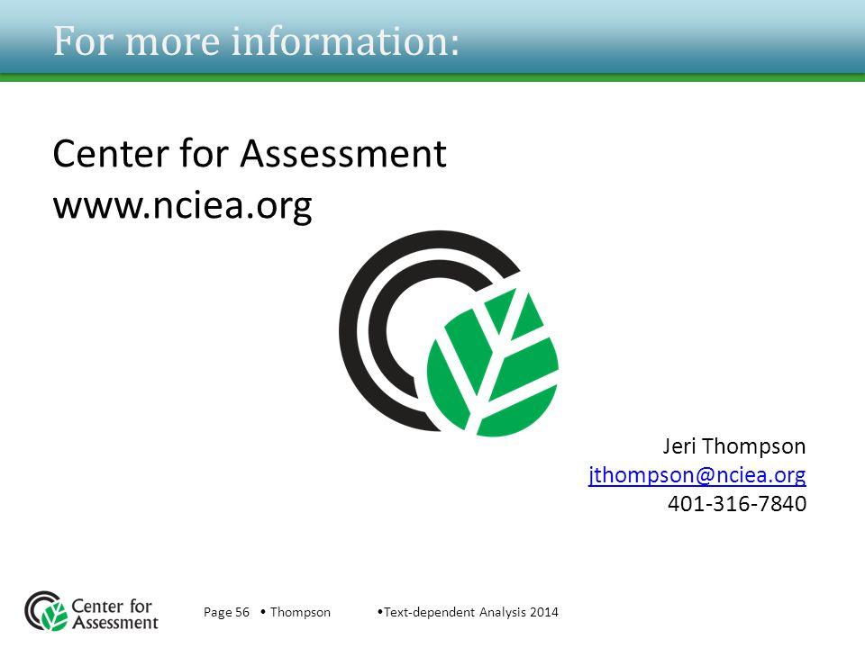Jeri Thompson jthompson@nciea.org 401-316-7840