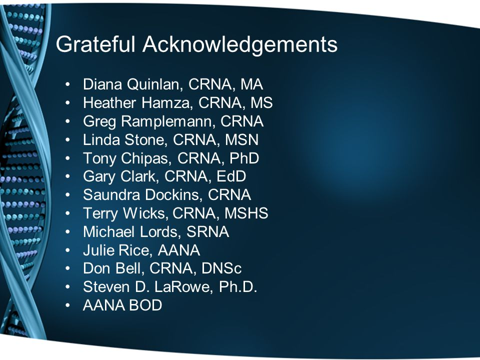 Grateful Acknowledgements