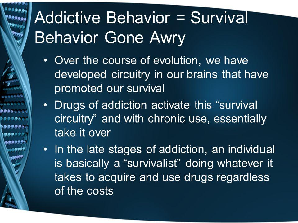 Addictive Behavior = Survival Behavior Gone Awry