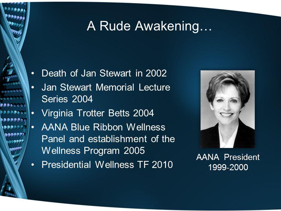 A Rude Awakening… Death of Jan Stewart in 2002