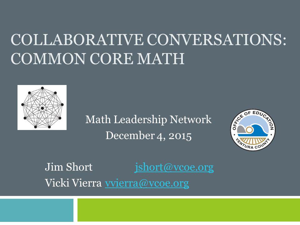 Collaborative Conversations: Common Core Math