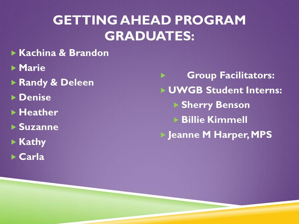 Getting Ahead Program Graduates: