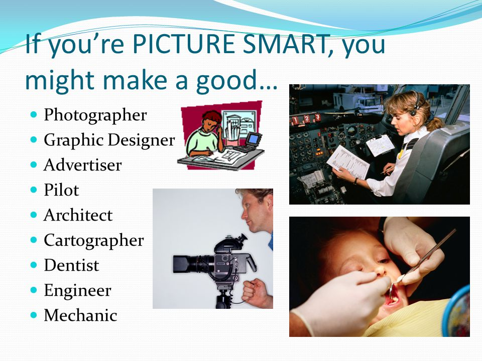 If you're PICTURE SMART, you might make a good…