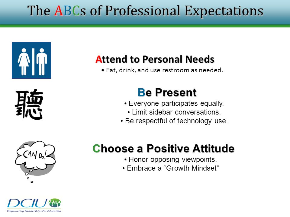 The ABCs of Professional Expectations