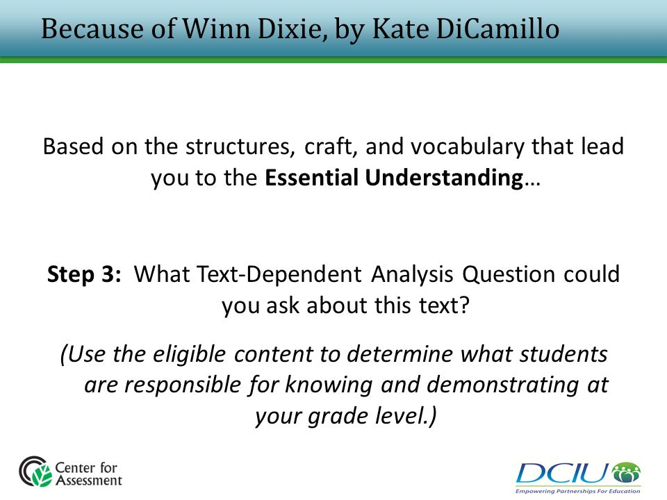 because of winn dixie essay Open document below is an essay on because of winn dixie from anti essays, your source for research papers, essays, and term paper examples.