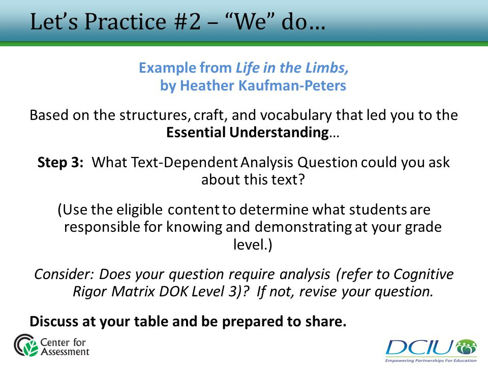 Let's Practice #2 – We do…