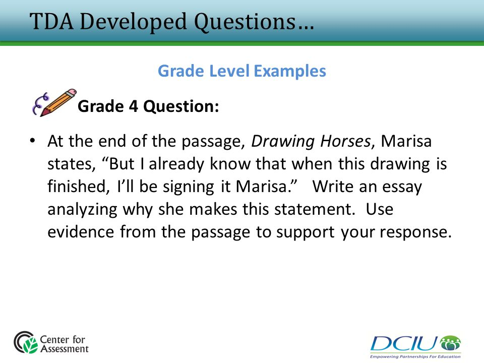 TDA Developed Questions…