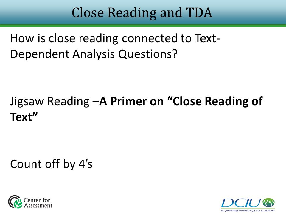 Close Reading and TDA