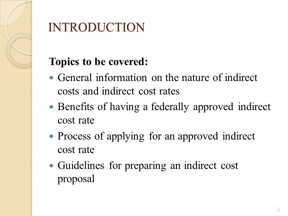 INTRODUCTION Topics to be covered: