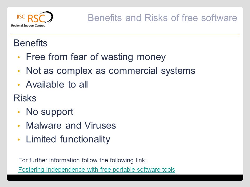 Benefits and Risks of free software