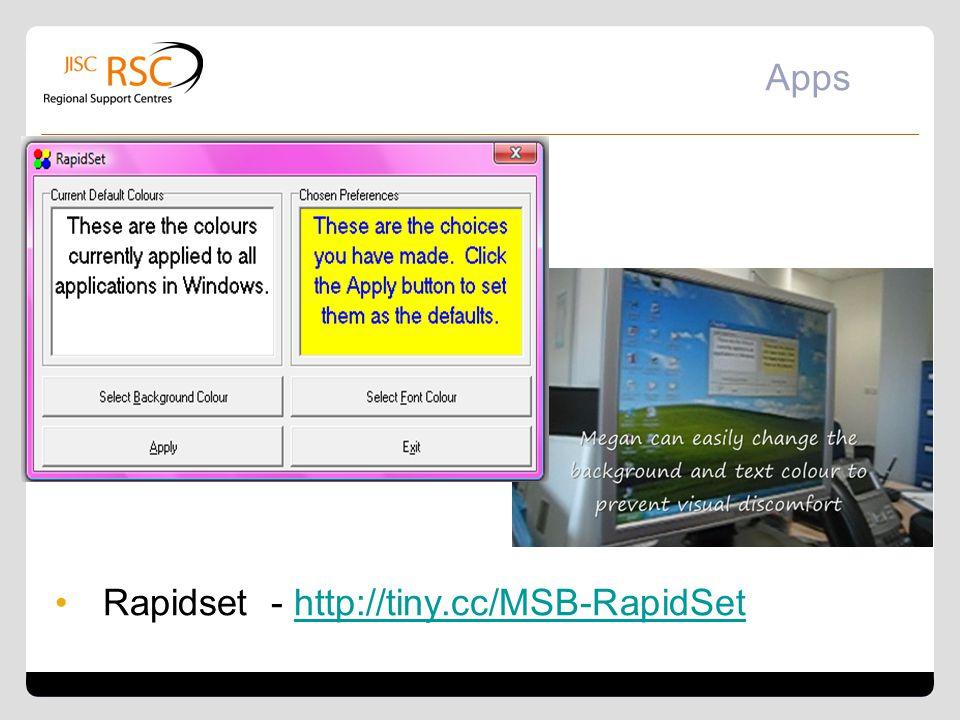 Rapidset - http://tiny.cc/MSB-RapidSet