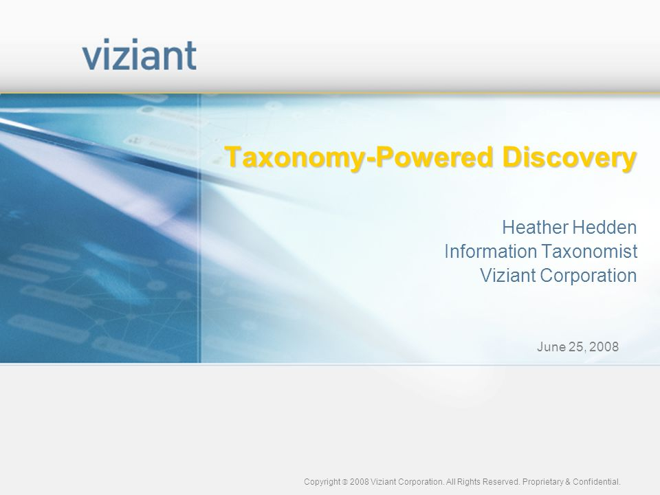 Taxonomy-Powered Discovery