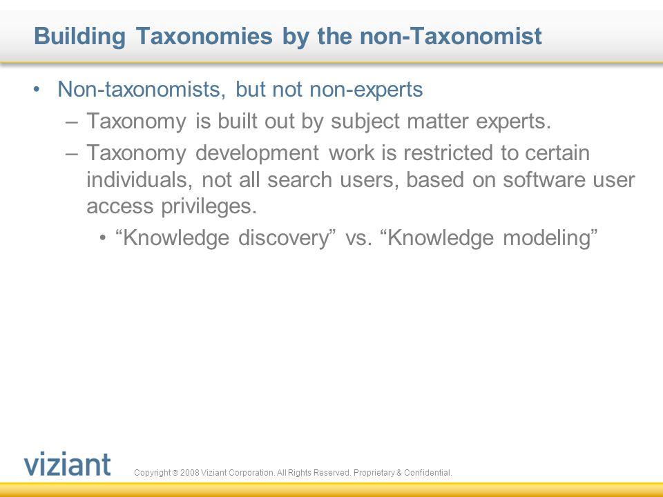 Building Taxonomies by the non-Taxonomist