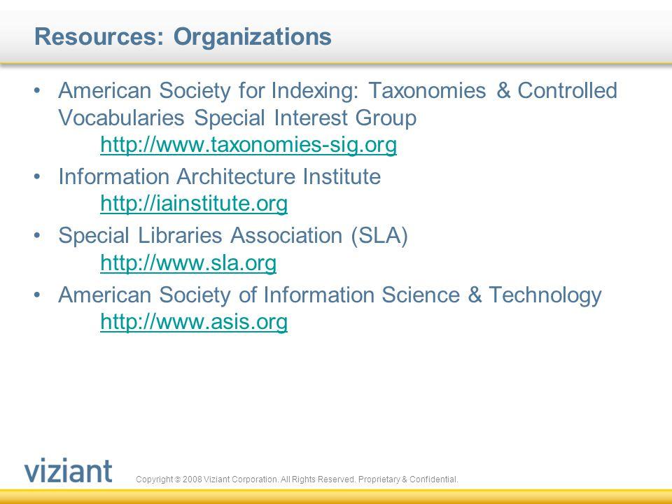 Resources: Organizations