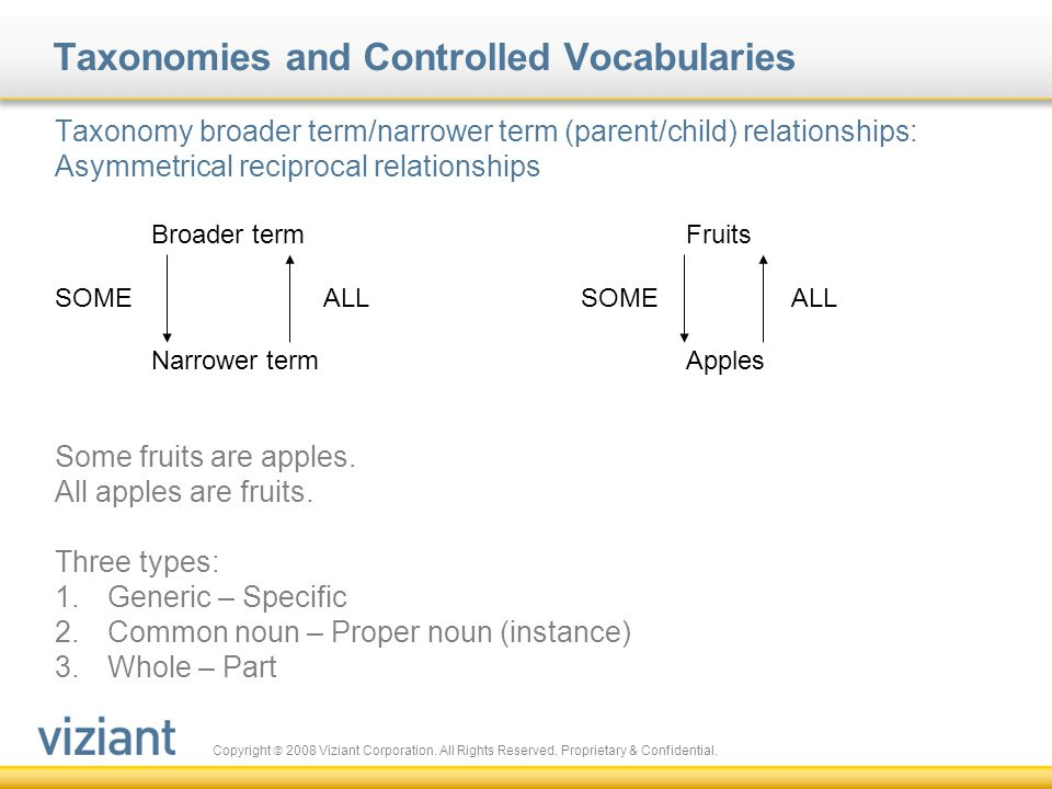 Taxonomies and Controlled Vocabularies