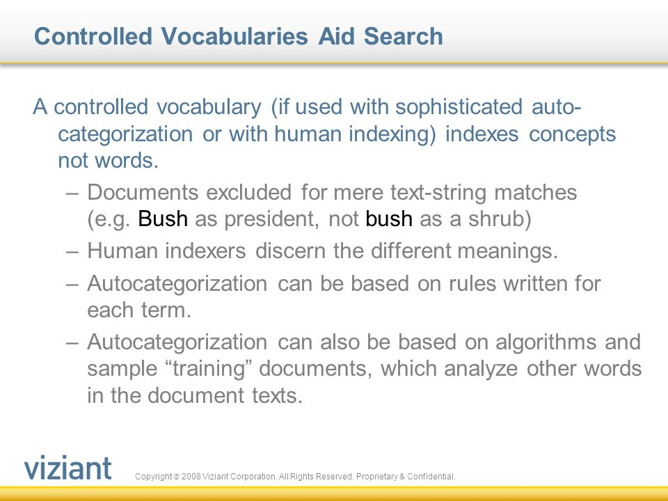 Controlled Vocabularies Aid Search