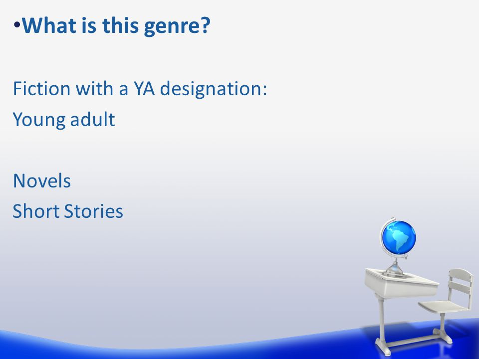 What is this genre Fiction with a YA designation: Young adult Novels Short Stories
