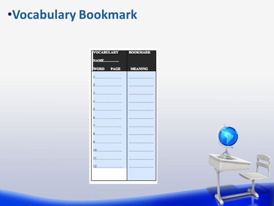 Vocabulary Bookmark
