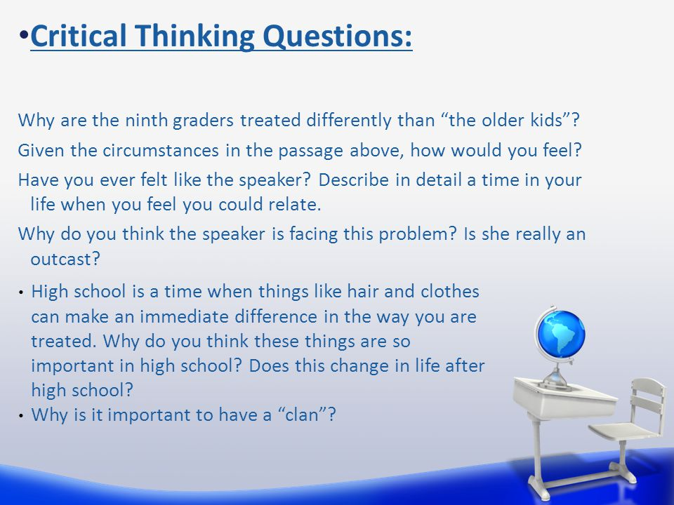 Critical Thinking Questions: