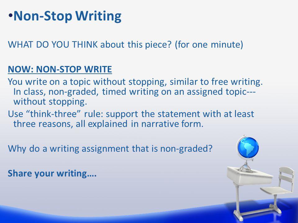 Non-Stop Writing